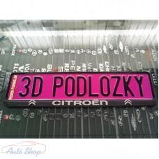 Citroen   3D rendszámtábla tartó