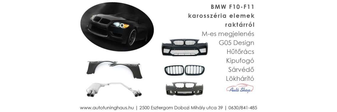 BMW F10 lökhárító elemek G05 ös megjelenés