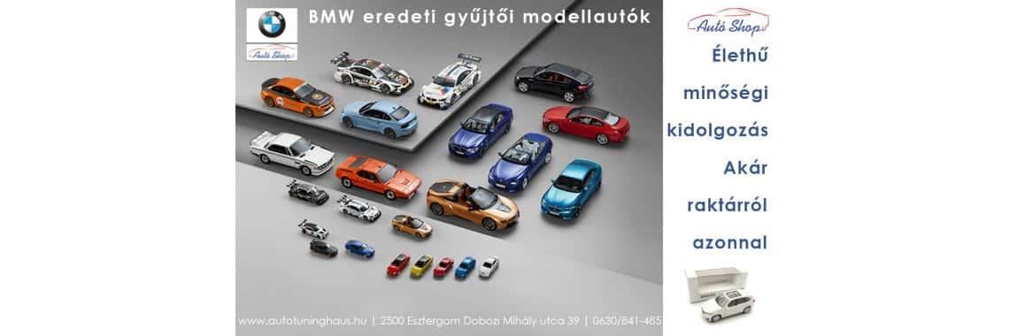 BMW eredeti modellautó webshopunkban