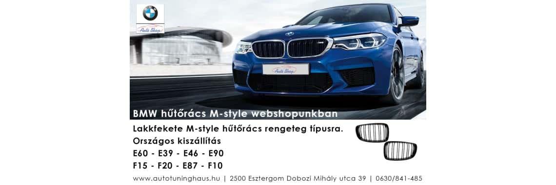 BMW hűtőrács M-style rengeteg típusra webshopunkban
