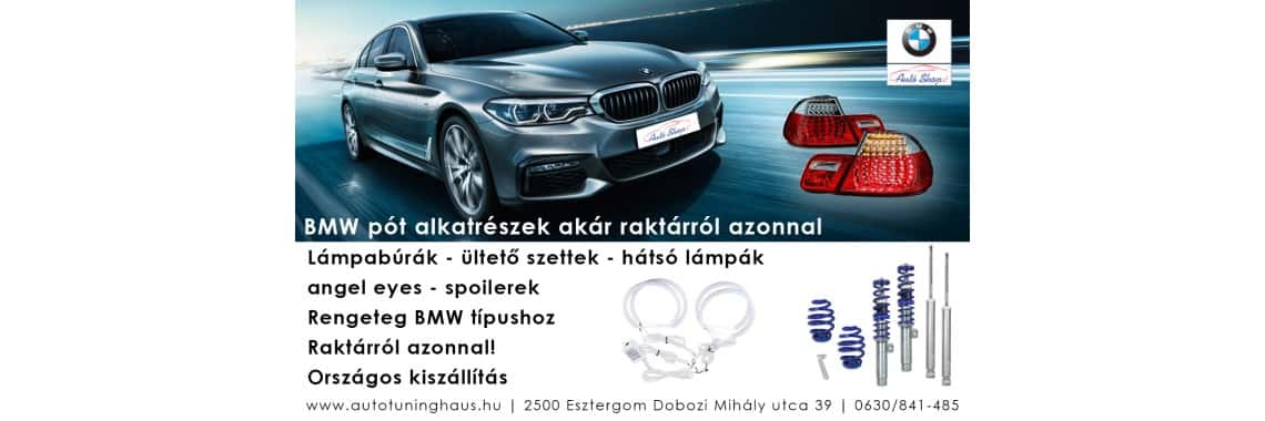 BMW alkatrészek - pótalkatrészek széles választéka