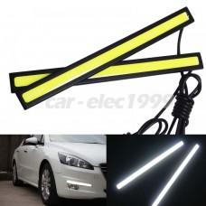 2x 17.3cm LED Autó  DRL Nappali Fény Ultra Fehér Fényü Led Vizálló