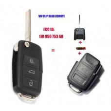 Távkapcsoló 433MHz 1J0 959 753 AH Az ID48 chipkészlettel