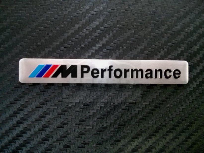 BMW M PERFORMANCE  ALUMÍNIUM EMBLÉMA