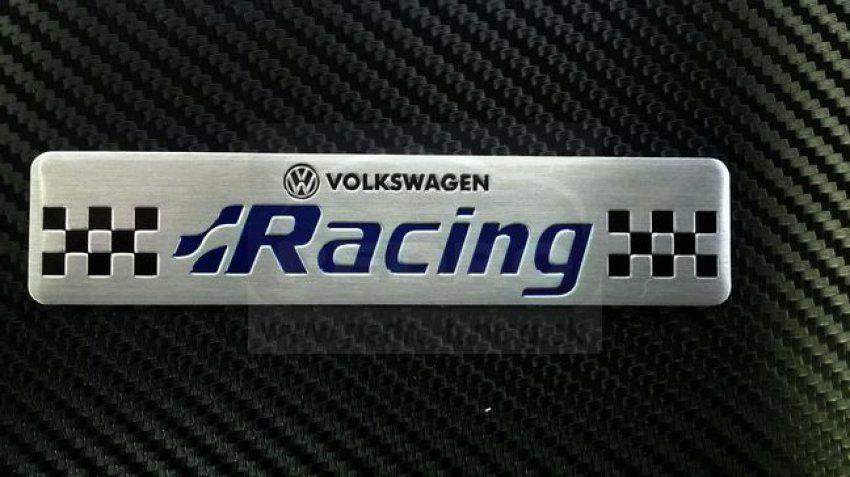 VW RACING ALUMÍNIUM ALAPÚ 3D EMBLÉMA
