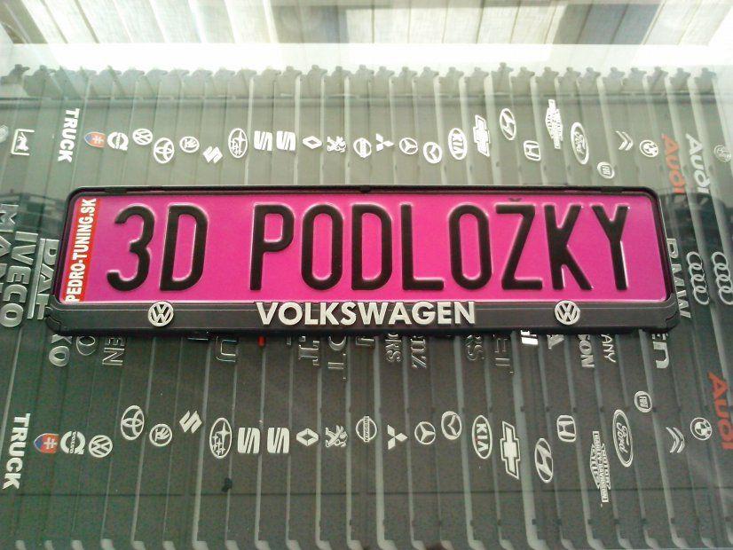 VW 3D RENDSZÁMTÁBLA TARTÓ
